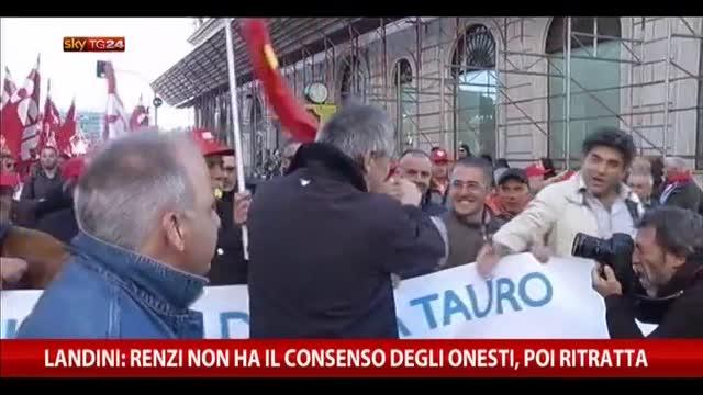 """Landini: """"Renzi non ha il consenso degli onesti"""""""