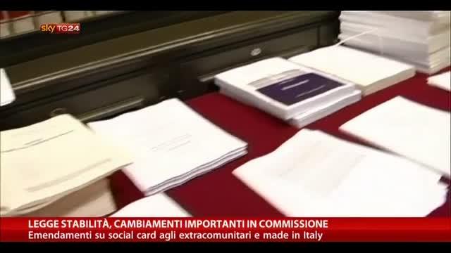 Legge Stabilità, cambiamenti importanti in Commissione