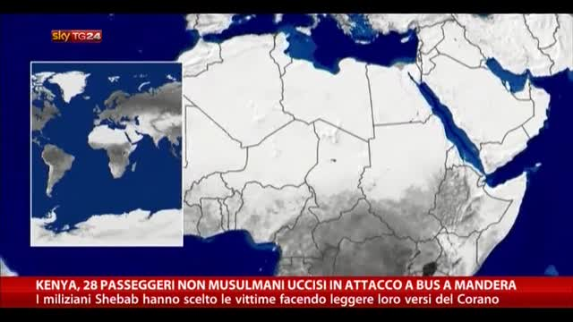 Kenya, 28 passeggeri non musulmani uccisi a Mandera