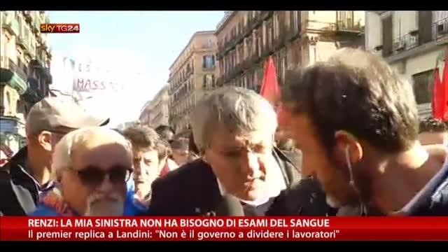 Renzi: la mia sinistra non ha bisogno di esami del sangue