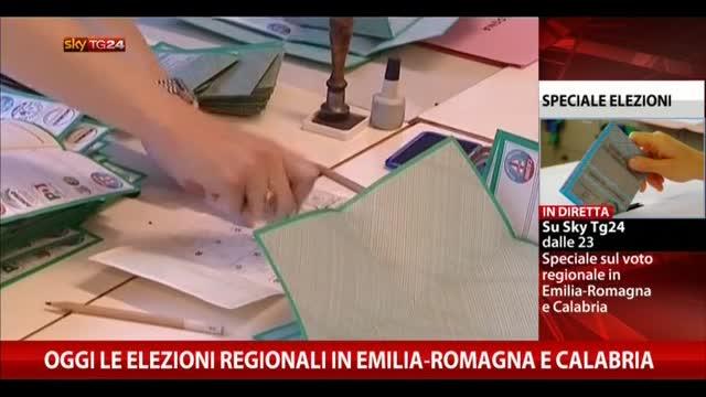 Urne aperte oggi per elezioni in Emilia-Romagna e Calabria