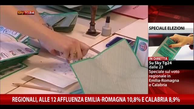 Regionali, affluenza alle 12: Emilia 10,75%, Calabria 8,85%