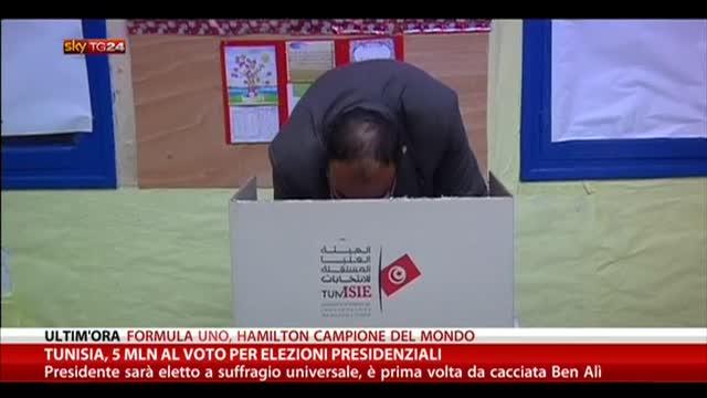 Tunisia, 5 mln al voto per le elezioni presidenziali