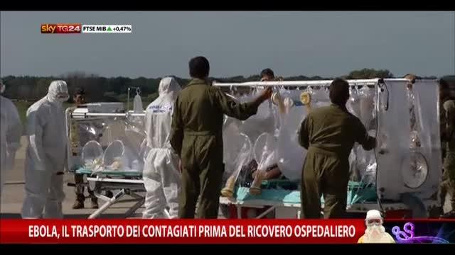 Ebola, trasporto contagiati prima del ricovero ospedaliero