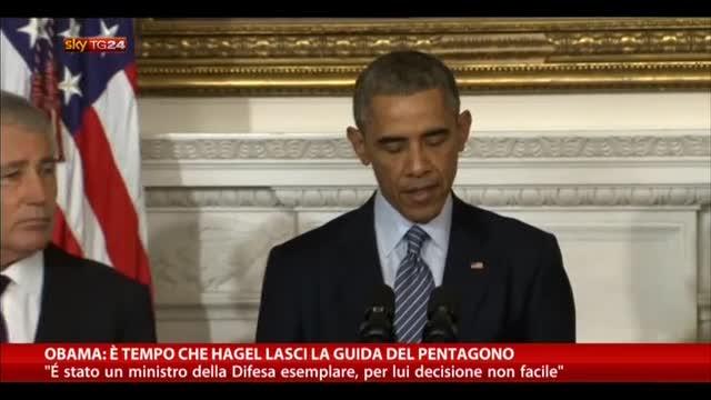 Obama: è tempo che Hagel lasci la guida del Pentagono
