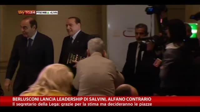 Berlusconi lancia leadershio di Salvini, Alfano contrario