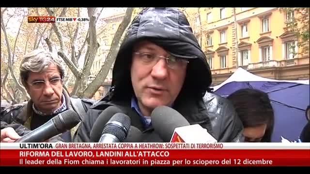 Riforma del lavoro, Landini all'attacco