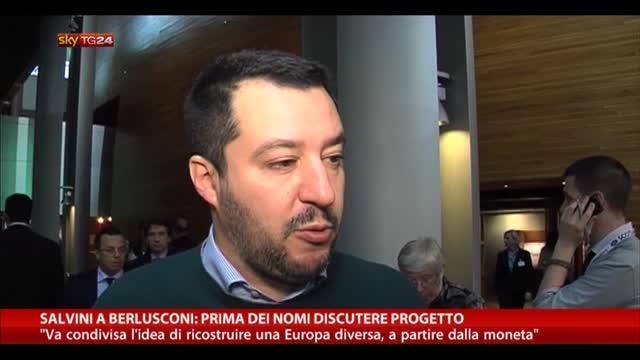 Salvini a Berlusconi: prima dei nomi discutere progetto