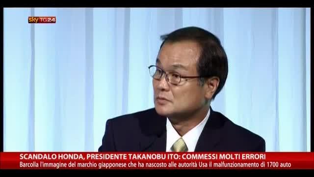Scandalo Honda, Presidente: commessi molti errori