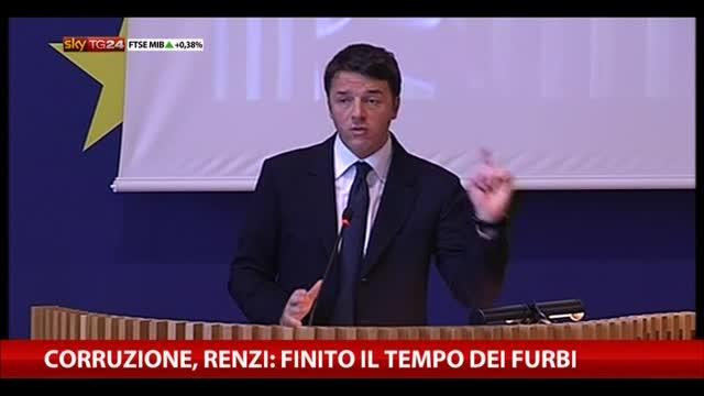 Corruzione, Renzi: finito il tempo dei furbi