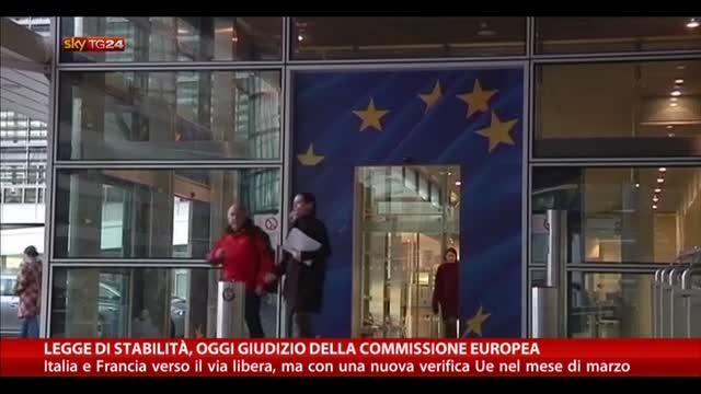 Legge di stabilità, oggi giudizio della Commissione europea