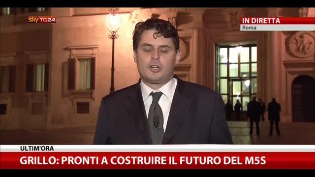 """Grillo: """"Pronti a costruire il futuro del M5S"""""""