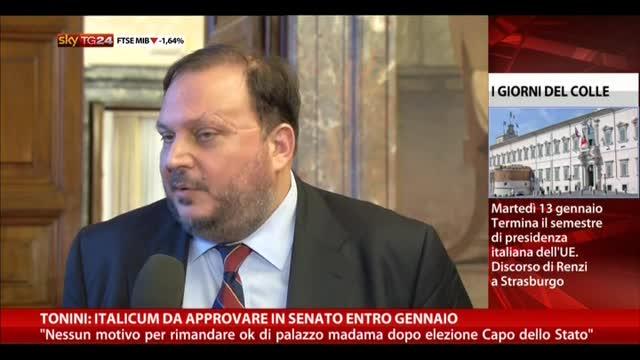 Tonini: Italicum da approvare in Senato entro gennaio