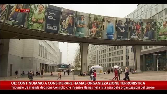 """UE: """"Hamas ancora considerata organizzazione terroristica"""""""