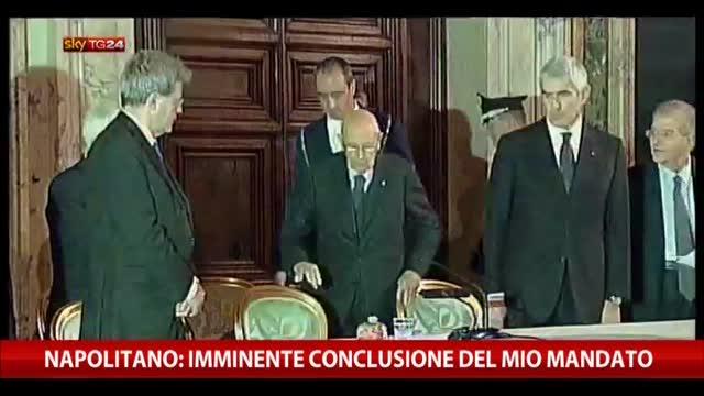 """Napolitano: """"Coraggioso sforzo riformatore del Governo"""""""