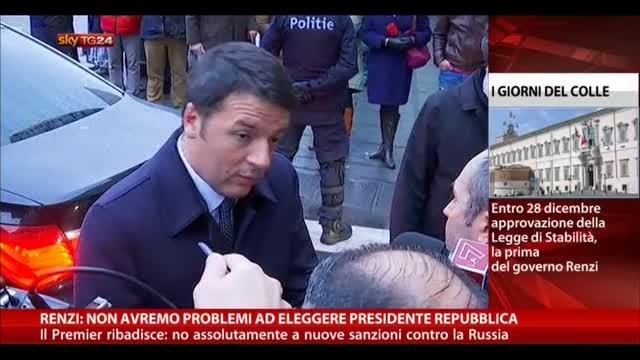 """Elezione Presidente Repubblica, Renzi: """"Non avremo problemi"""""""