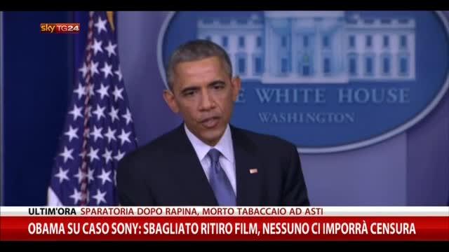 Obama su Sony: sbagliato ritiro film,nessuno imporrà censura