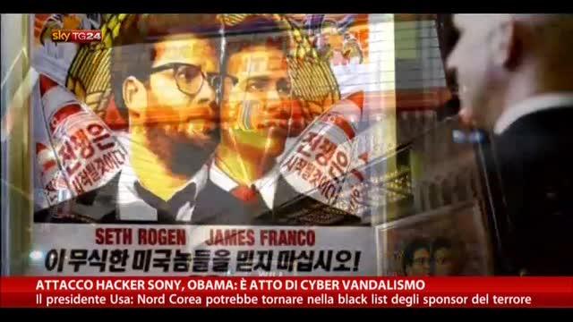 """Attacco Hacker Sony, Obama: """"E' atto di cyber vandalismo"""""""