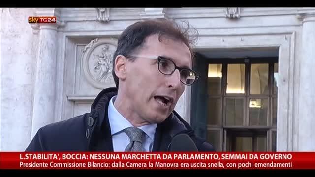 Boccia: nessuna marchetta da parlamento, semmai da governo