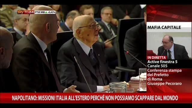 Napolitano: missioni perchè non possiamo scappare da mondo