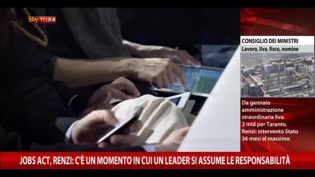 """Jobs Act. Renzi: """"E' una rivoluzione copernicana"""""""