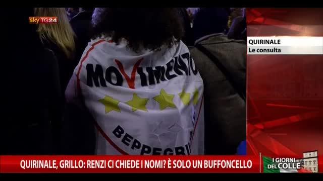 Quirinale, Grillo: Renzi ci chiede nomi? Solo un buffoncello