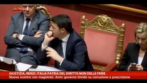 Giustizia, Renzi: Italia patria del diritto non delle ferie