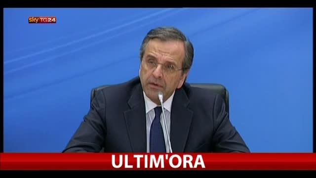 """Elezioni Grecia, Samaras: """"Consegniamo paese senza debiti"""""""