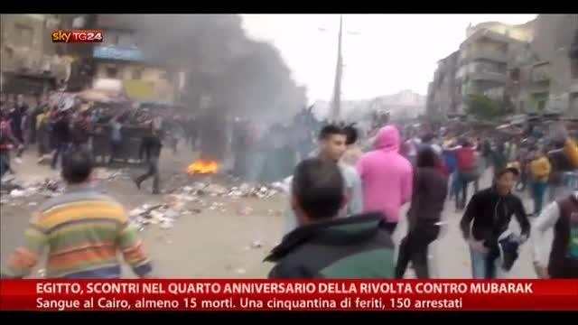 Egitto, scontri nell'anniversario rivolta contro Mubarak