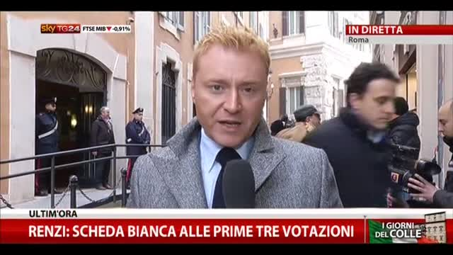 Colle, Renzi: PD farà nome secco e non terna
