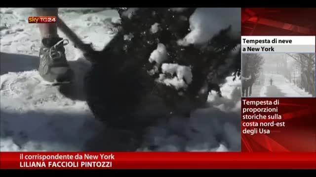 Storica tempesta di neve a New York