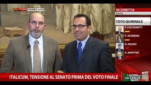 Italicum in Senato, intervista a Vito Crimi