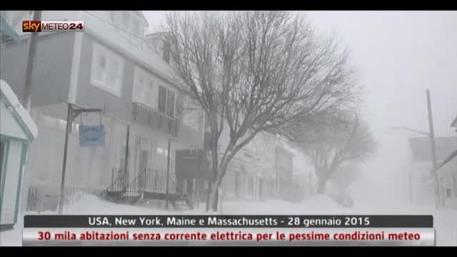 Usa, 30 mila abitazioni senza corrente elettrica per la neve