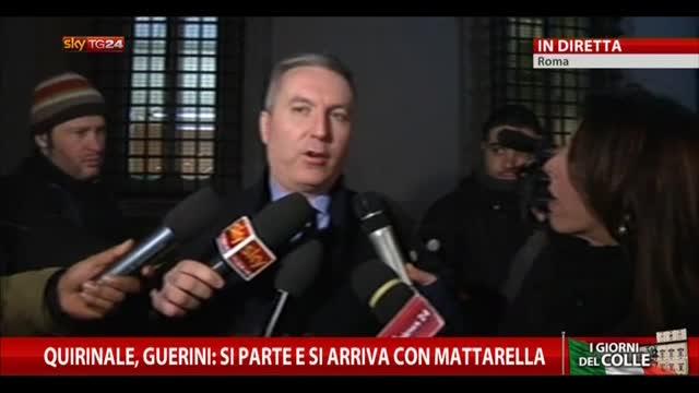 """Quirinale, Guerini: """"Si parte e si arriva con Mattarella"""""""