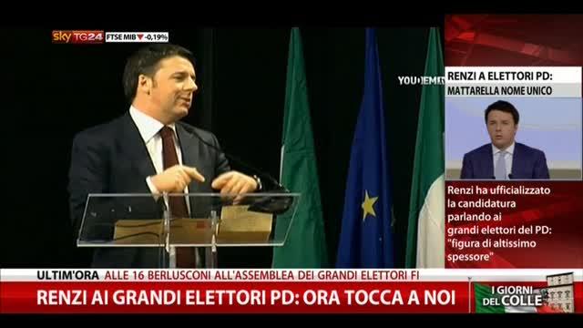 """Renzi: """"Mattarella unico nome"""". Romani: """"Fi non lo voterà"""""""