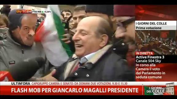 Flash mob per Giancarlo Magalli presidente