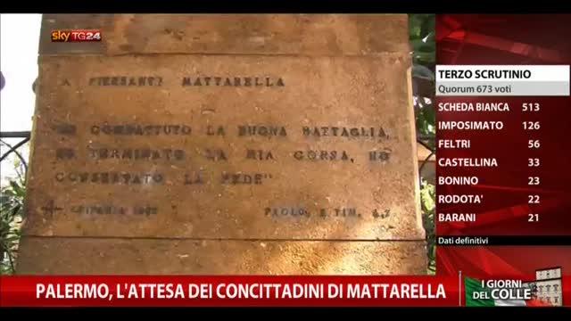Palermo, l'attesa dei concittadini di Mattarella