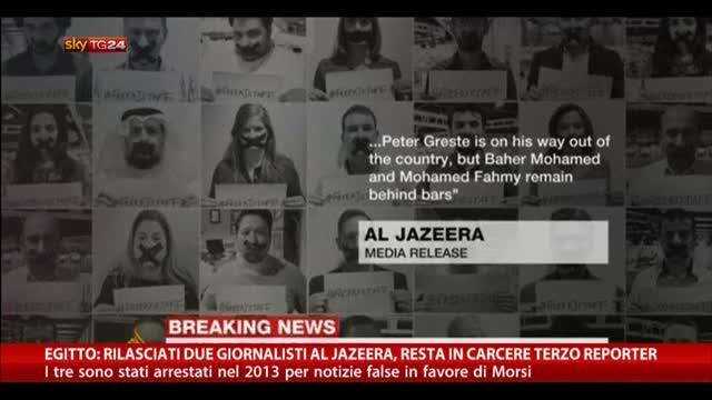 Egitto: rilasciati due su tre giornalisti di Al Jazeera