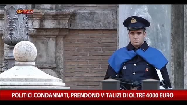Politici condannati, prendono vitalizi di oltre 4000 euro