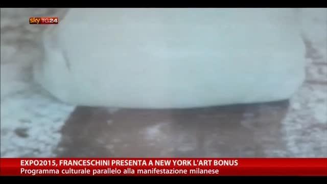 Expo2015, Franceschini presenta a New York l'Art Bonus