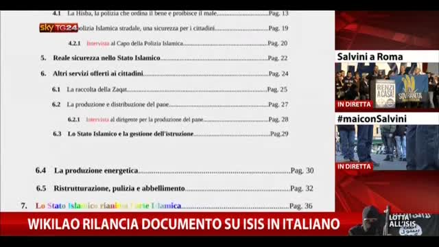 Wikilao rilancia documento su Isis in italiano