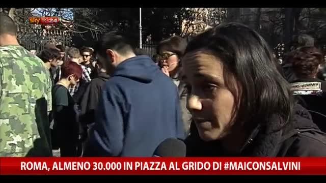 Roma, almeno 30.000 in piazza al grido di #maiconsalvini