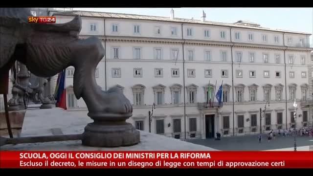 Scuola, oggi il Consiglio dei Ministri per la riforma