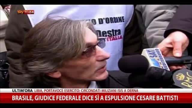 Brasile, da giudice federale sì a espulsione Cesare Battisti