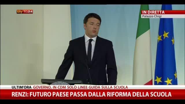 """Riforma Scuola, Renzi: """"Martedì prossimo in CdM"""""""