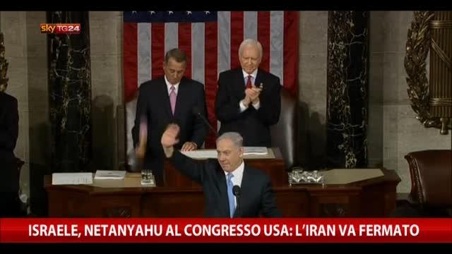 """Israele, Netanyahu al Congresso USA: """"L'Iran va fermato"""""""