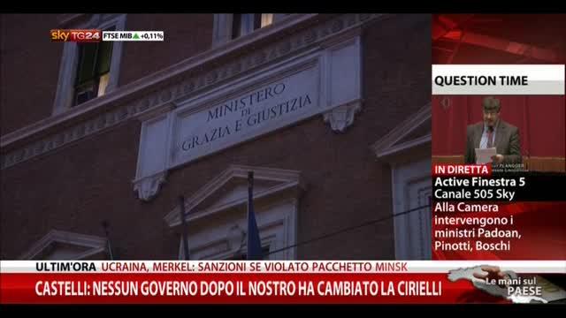 Castelli: nessun Governo dopo nostro ha cambiato Cirielli