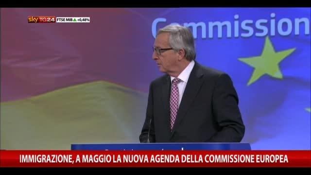 Immigrazione, a maggio la nuova agenda Commissione europea