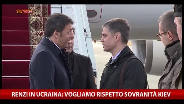 Renzi in Ucraina: vogliamo rispetto sovranità Kiev
