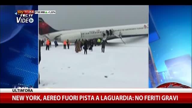 New York, aereo fuori pista a LaGuardia: no feriti gravi